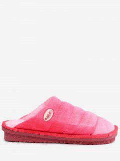 Slip On Striped Indoor Slippers - Watermelon Red Size(40-41)