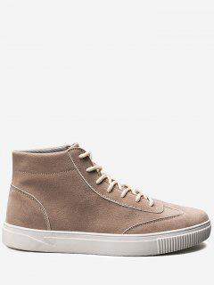 Tie Up High Top Casual Shoes - Beige 40