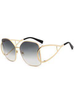 Gafas De Sol De Gran Tamaño Adornadas Con Adornos De Protección UV - Gris Claro