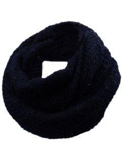 Outdoor Rhombus Pattern Chunky Knitted Scarf - Black