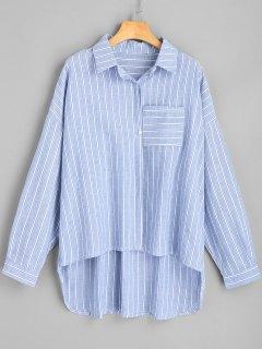 Camisa De Rayas Alta Baja De Gran Tamaño - Raya S