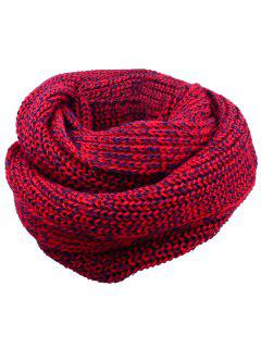 Soft Color Splice Crochet Knitted Scarf - Claret