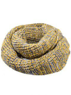 Soft Color Splice Crochet Knitted Scarf - Light Yellow