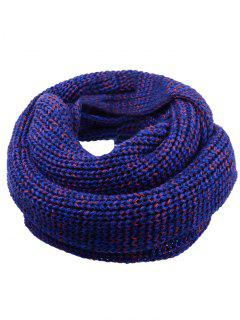 Soft Color Splice Crochet Knitted Scarf - Pearl Royal Blue