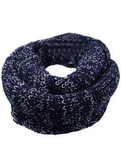 Soft Color Splice Crochet Knitted Scarf - Black