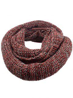 Soft Color Splice Crochet Knitted Scarf - Deep Brown