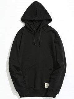 Kangaroo Pocket Patch Design Hoodie - Black 2xl