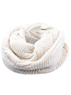 Outdoor Crochet Ribbed Knitting Scarf - Beige