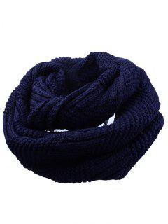 Outdoor Crochet Ribbed Knitting Scarf - Cadetblue