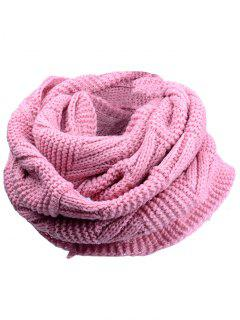 Outdoor Crochet Ribbed Knitting Scarf - Pink