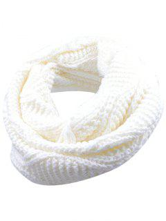 Soft Thicken Ribbed Knit Winter Scarf - White