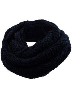 Soft Thicken Ribbed Knit Winter Scarf - Yellow And Black