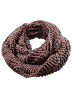Soft Thicken Ribbed Knit Winter Scarf - Deep Brown