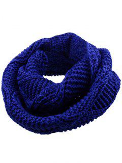 Soft Thicken Ribbed Knit Winter Scarf - Royal