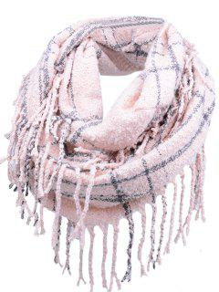 Vintage Fringed Edge Artificial Cashmere Scarf - Light Pink