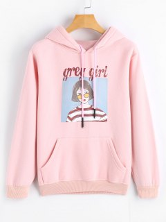 Cute Figure Cartoon Hoodie - Pink 2xl