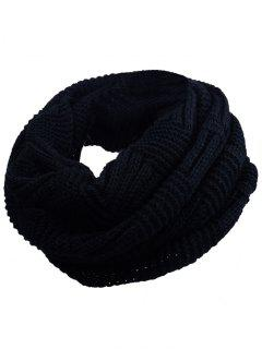 Outdoor Crochet Ribbed Knitting Scarf - Black