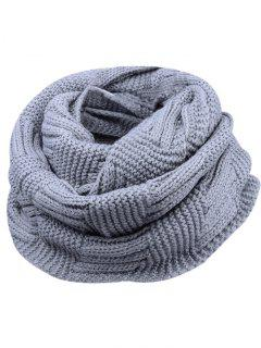 Outdoor Crochet Ribbed Knitting Scarf - Gray