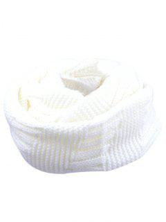 Outdoor Crochet Ribbed Knitting Scarf - White