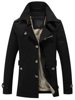 Mens Button Up Cargo Jacket - Black 3xl