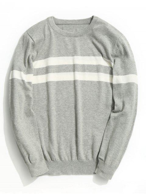 hot Striped Knitwear - GRAY XL Mobile