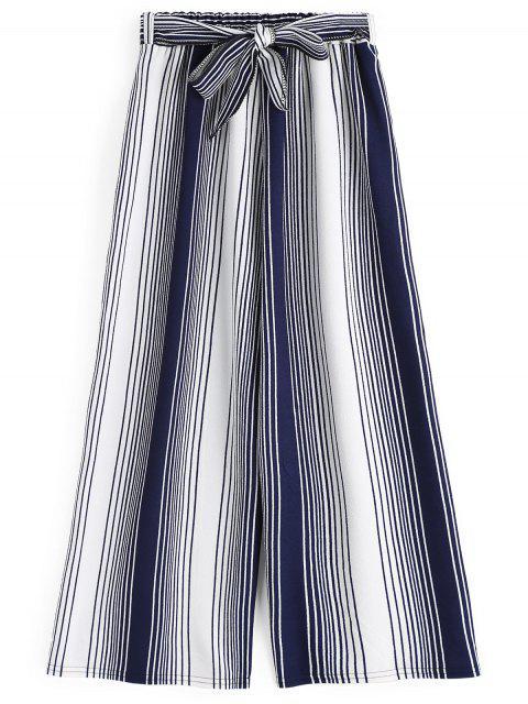 Neunte Bowknot Streifen weites Bein Hosen - Streifen  Eine Größe Mobile
