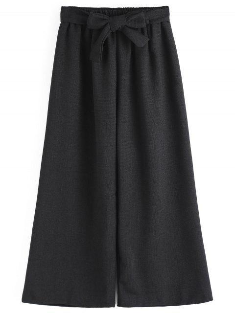 Neunte Bowknot Wide Leg Pants - Schwarz Eine Größe Mobile