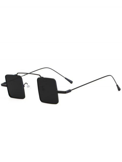 hot Vintage Square Shape Full Frame Sunglasses - DOUBLE BLACK  Mobile