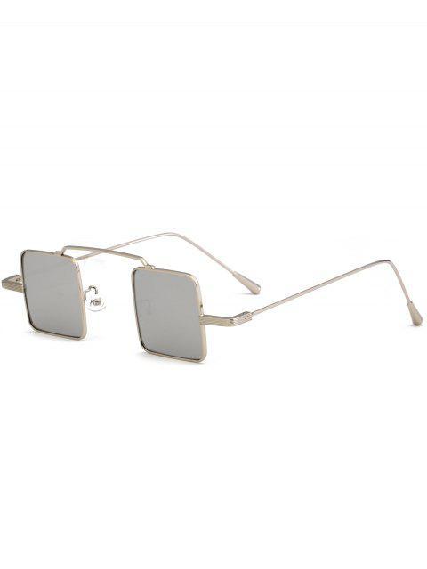 Vintage quadratische Form-Vollrahmen-Sonnenbrille - Nickel Rahmen+Quecksilber Linse  Mobile