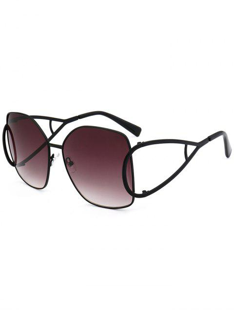 new UV Protection Hollow Out Embellished Oversized Sunglasses -   Mobile