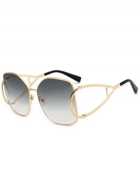 Gafas de sol de gran tamaño adornadas con adornos de protección UV - Gris Claro  Mobile