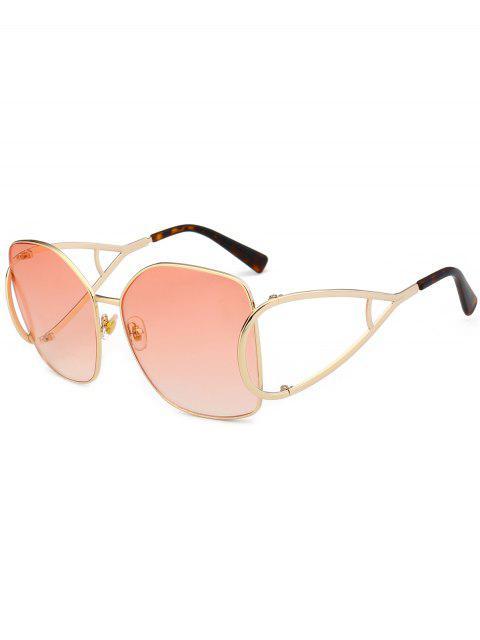 Gafas de sol de gran tamaño adornadas con adornos de protección UV - Rosa Claro  Mobile