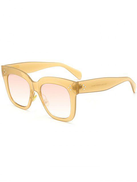 Anti UV Full Frame Square Sonnenbrillen - Ingwer-Gelb  Mobile