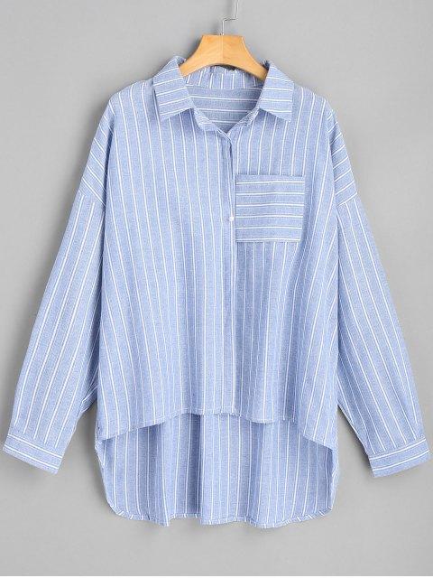 Camisa de rayas alta baja de gran tamaño - Raya S Mobile