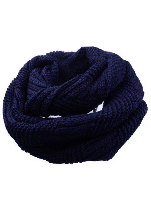 women Outdoor Crochet Ribbed Knitting Scarf - CADETBLUE  Mobile