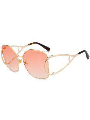 UV Protection Hollow Out Embellished Oversized Sunglasses - Light Pink - Light Pink