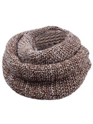 Soft Color Splice Crochet Knitted Scarf