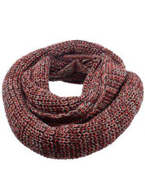 Bufanda Tejida Con Punto De Ganchillo De Color Suave - Marrón Oscuro