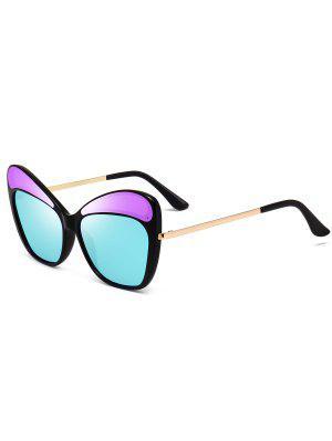 Anti UV Metal Frame Cat Eye Sunglasses - Larkspur - Larkspur