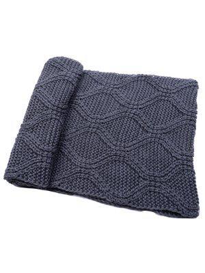 Écharpe d'hiver en tricot côtelé à fines épaisseurs