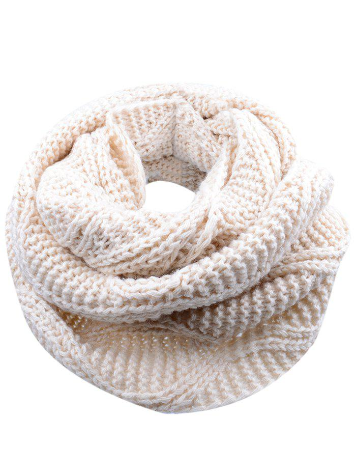 Soft Thicken Ribbed Knit Winter Scarf 232098105