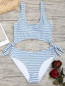 One Piece Cut Out Swimwear De Listrado - Listras L