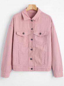 Chemise Boutonnée à épaules Dénudées - Rose PÂle S