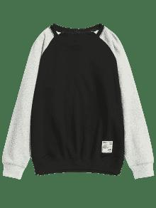 Two Tone 4xl Negro Sweatshirt Pullover qwApxnFn