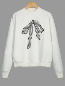 Camiseta Bowknot Bordado Lana S Blanco De 5wvwC8rq