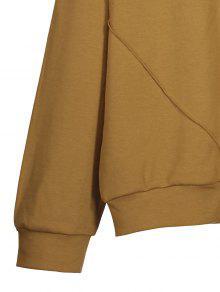 baumwoll sweatshirt mit flecken braun sweatshirts m zaful. Black Bedroom Furniture Sets. Home Design Ideas