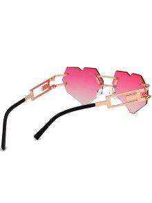 44dc7d196 TOPVOP نظارات شمسية : أحمر في الهواء الطلق الحب القلب مزين بدون إطار ...