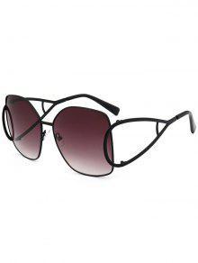 الأشعة فوق البنفسجية حماية الجوف خارج مزين النظارات الشمسية المتضخم - أسود + رمادي