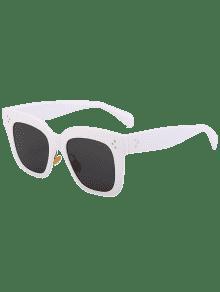 lunettes de soleil carr es anti uv blanc cadre objectifs gris lunettes de soleil zaful. Black Bedroom Furniture Sets. Home Design Ideas