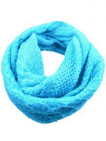 Padrão De Rhombus Ao Ar Livre Chunky Knitted Scarf - Azul-celeste